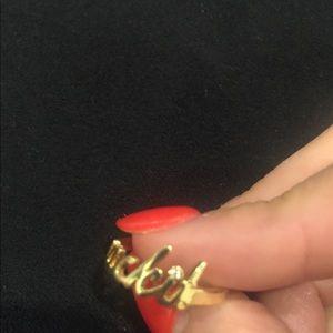 "Nasty Gal Jewelry - Gold ""suck it"" ring"